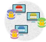 5. 個人情報等のデータを保管するサーバーは1社ごとに別環境を提供